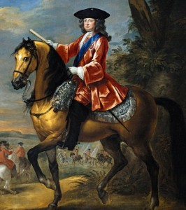 George 1 on horseback