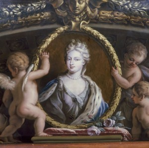 Queen Caroline, ceiling painting at Hampton Court